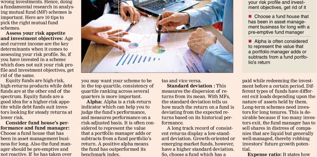 Mutual Funds - Here's How To Pick Right Mix Of Mutual Funds - Indian